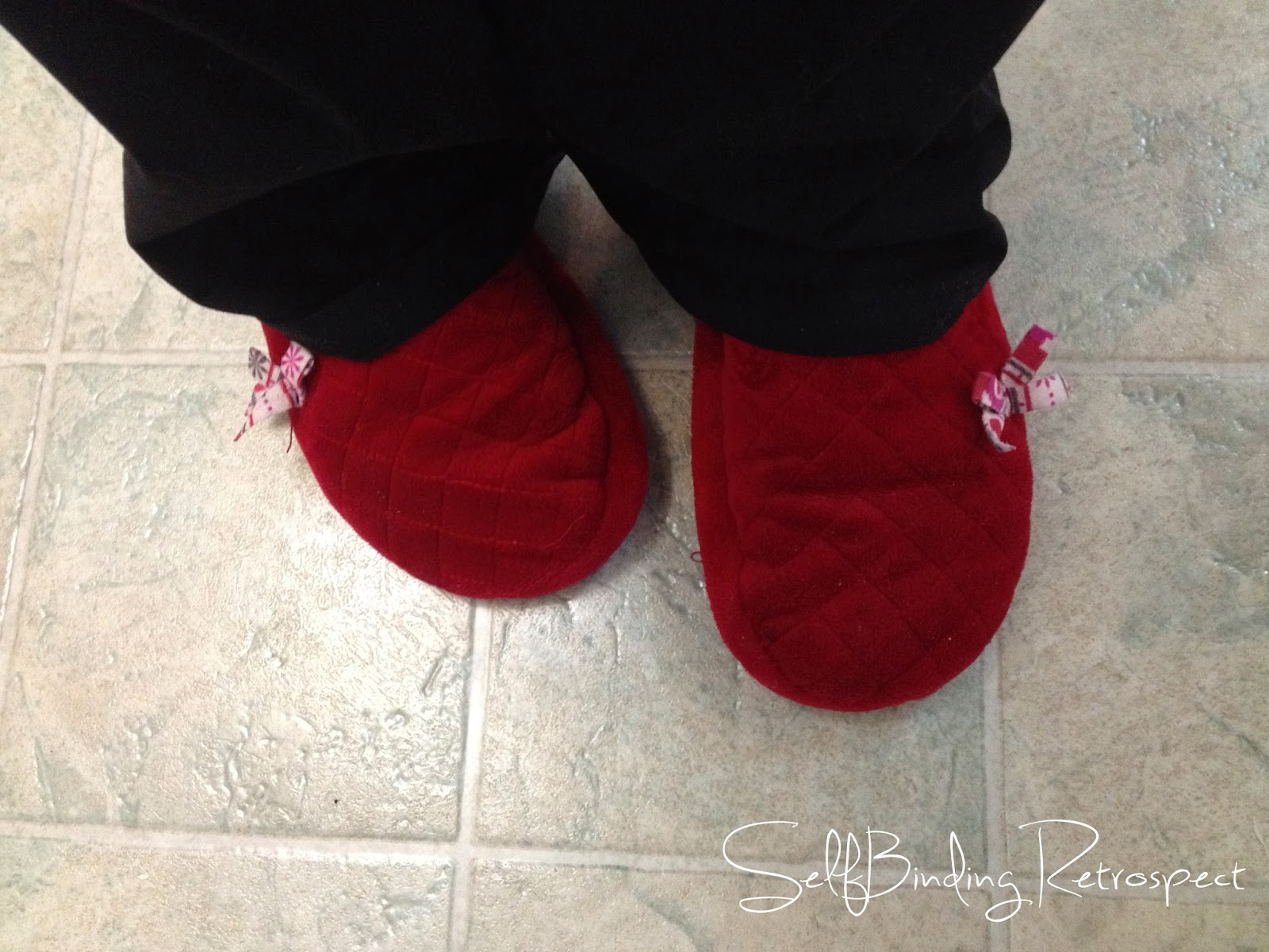 slippers, red, blizzard survival