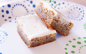 Banana bars w/ Cream Cheese Frosting
