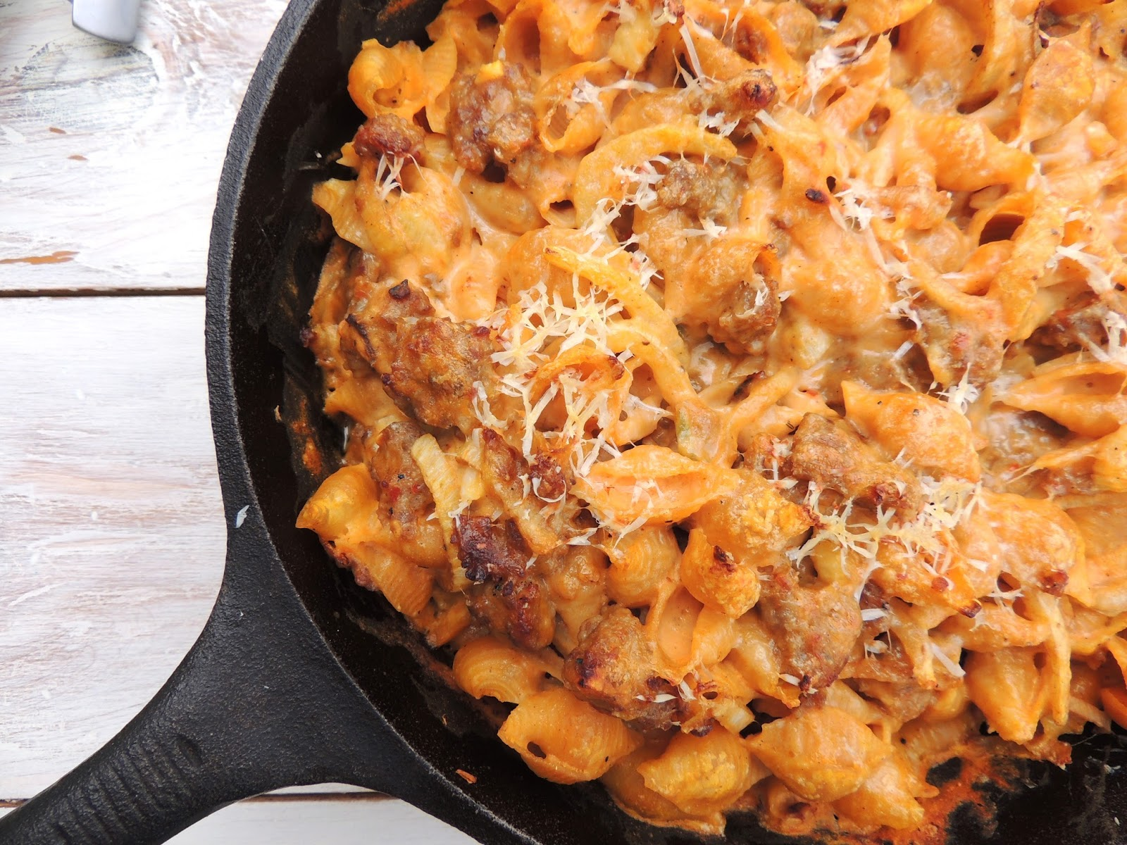 ... Happy Plate: Creamy Baked Pasta with Sausage, Fennel and Pumpkin