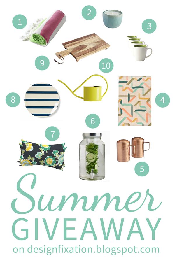 design fixation summer home decor giveaway