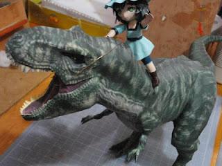Tyrannosaurus Rex Papercraft - Jurassic Park Model