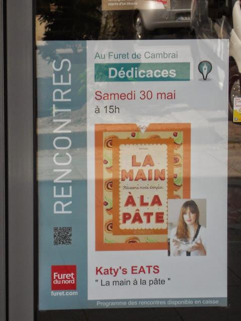 la main à la pâte, pâtisserie mode d'emploi, katy's eats, furet du nord, dedicaces