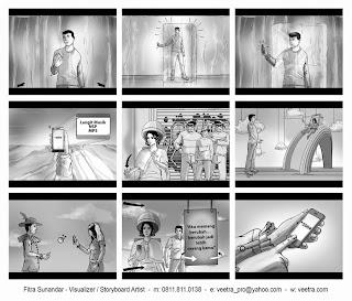 Storyboard TVC Telkomsel