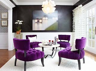 ruang+santai+ungu Kombinasi Warna Interior Untuk Rumah Modern