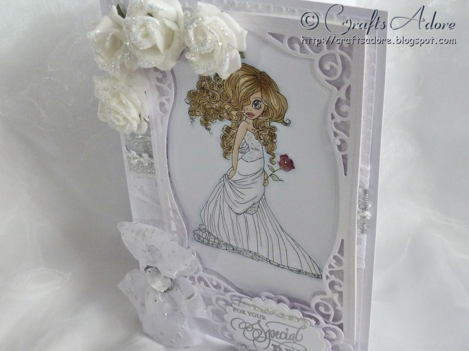 """Saturated Canary """"Lovely"""" Wedding Congratulations Card"""