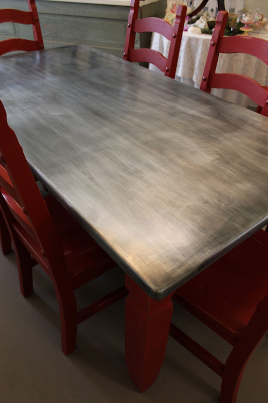 Metal Covered Tables : Vanhook co chalk paint and zinc