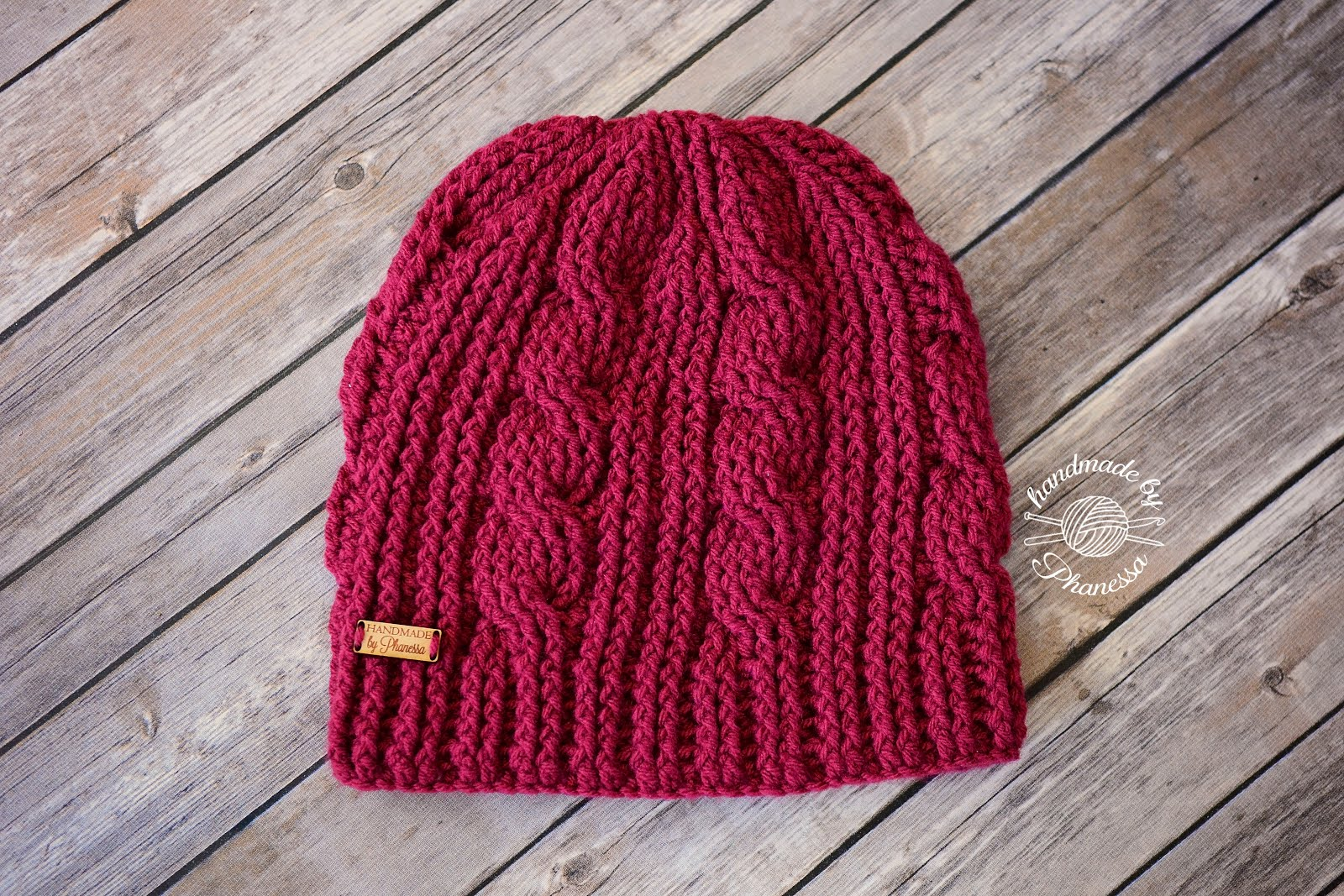 Handmade by Phanessa  Crochet Cable Twist Hat 255dd74b0e1