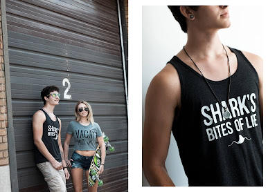 Shark's Bites of Life apparel, photo by Jenna Mahr photography