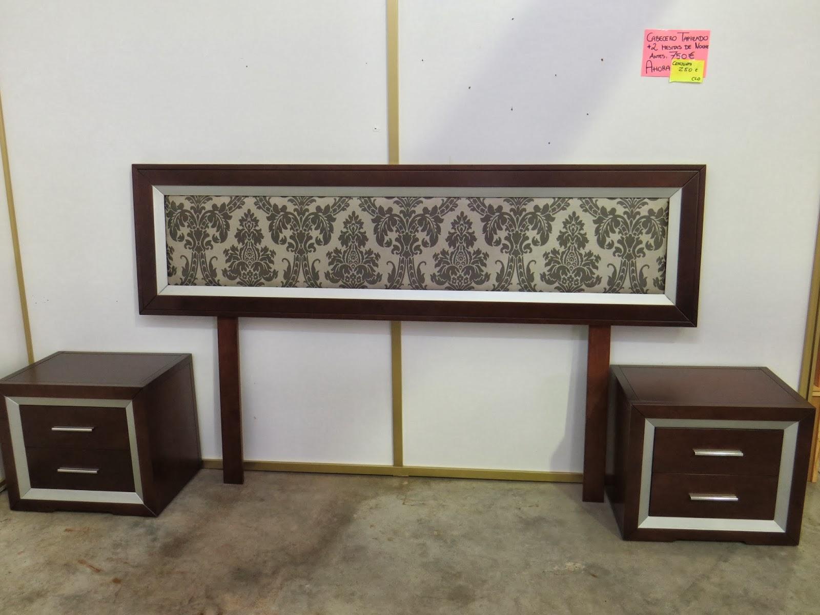 Muebles y art culos de decoraci n a precios chollo Conjunto cabecero y mesitas