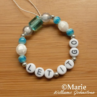 Let it go bracelet great for making at Frozen parties