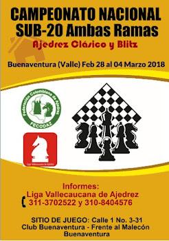 Campeonato Nacional Ajedrez Sub-20 Ambas Ramas (Dar clic a la imagen)