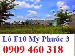 Cần tiền bán lô F10 Mỹ Phước 3 Bình Dương giá rẻ