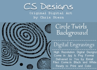 Circle Twirl Digital Engravings Background Digital Stamp