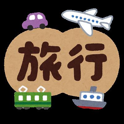 「旅行」のイラスト文字
