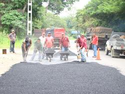 Bacheos Realizados por la Direccion de Vialidad y Transporte en la Carretera Nacional La Raisa
