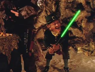 Warwick Davis Leprechaun 4 lightsaber dwarf star wars
