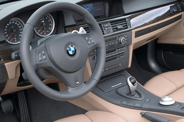 2009 BMW M3 Convertible Front Interior Rear View