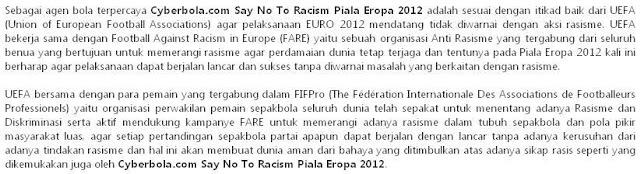 Artikel Cyberbola.com Say No To Racism Piala Eropa 2012_1