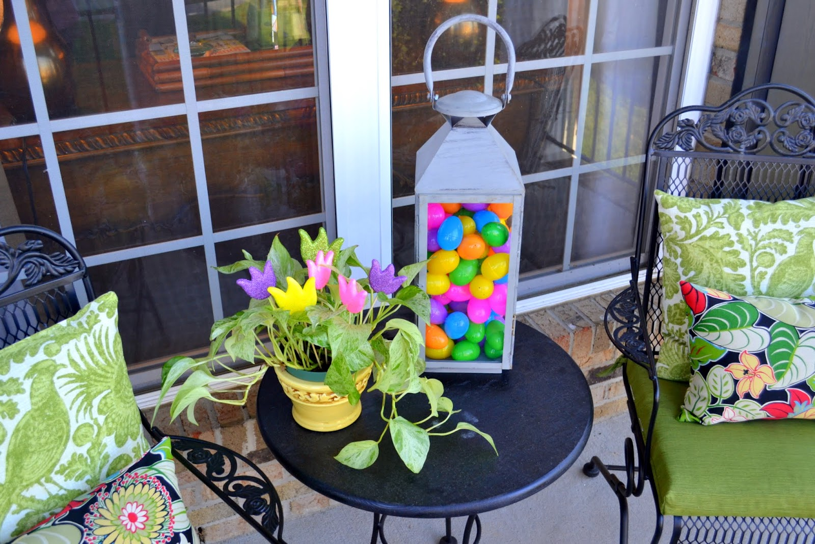 My Front Porch All Decked Out for Easter - Worthing Court