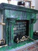 Камин из мрамора. Marble fireplace