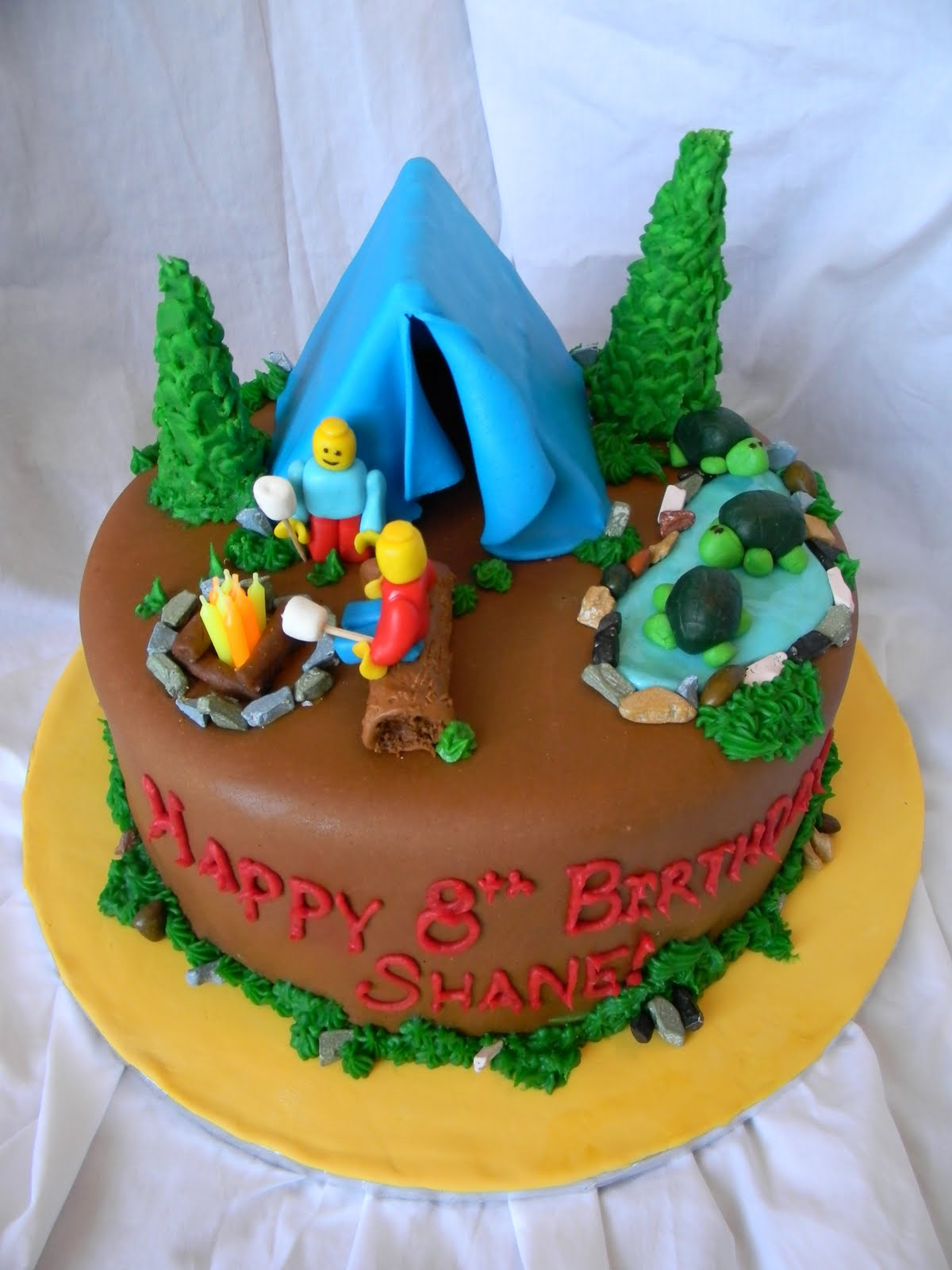 Pin Camping Theme Baby Shower Or Kids Party Cake On Pinterest
