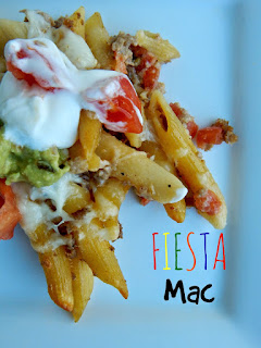 Country Fair Blog Party Blue Ribbon Winner: Ally's Sweet and Savory Eats Fiesta Mac