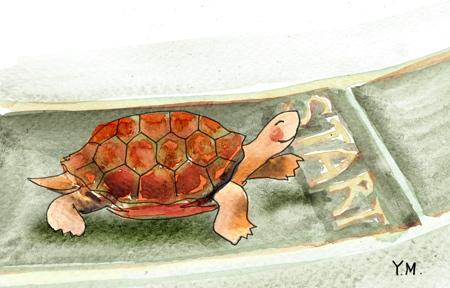 turle and goal by Yukié Matsushita