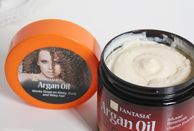 Fantasia Argan Oil Curl Pudding on Transitioning hair