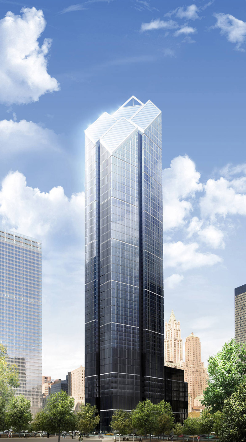 two world trade center, wtc2, norman foster, rendering