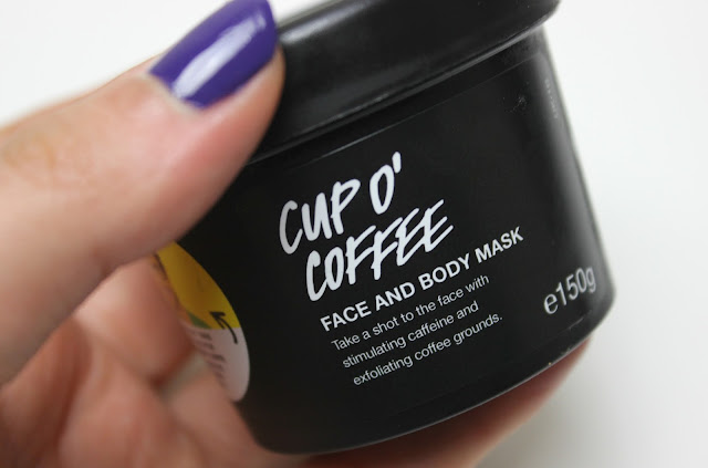 Stimulating coffee based Lush Cup O' Coffee Face and Body Mask