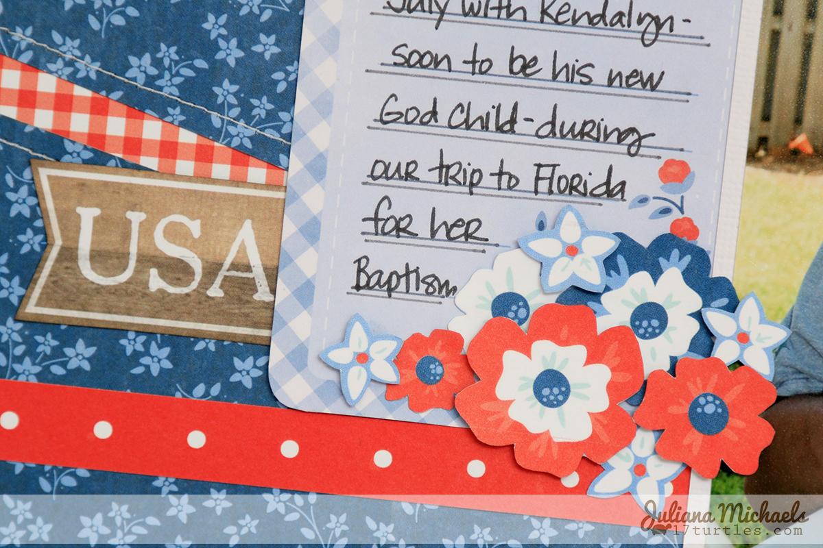 4th of July Fun Scrapbook Page Juliana Michaels Pebbles Americana