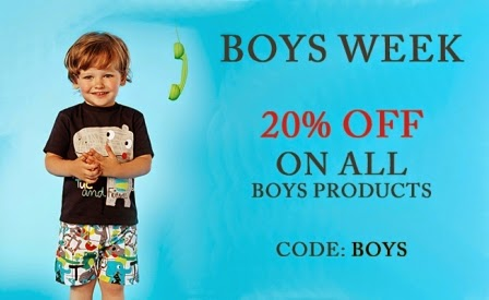 Boys week - 20 % off on all boys products