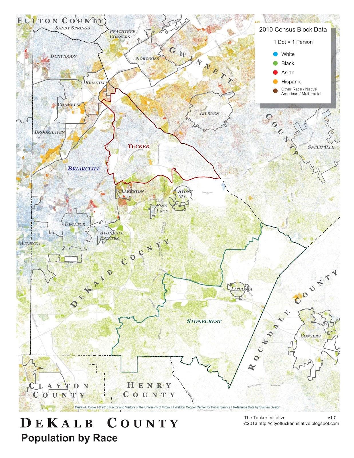 dekalb county population by race
