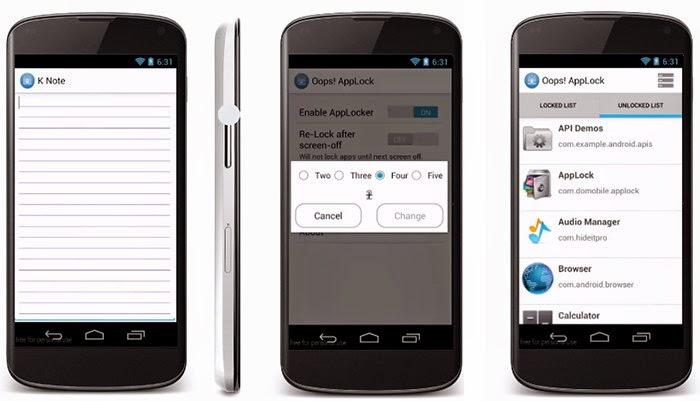 تحميل تطبيق Oops! AppLock لقفل وحماية التطبيقات في أندرويد بالضغط على زر الصوت
