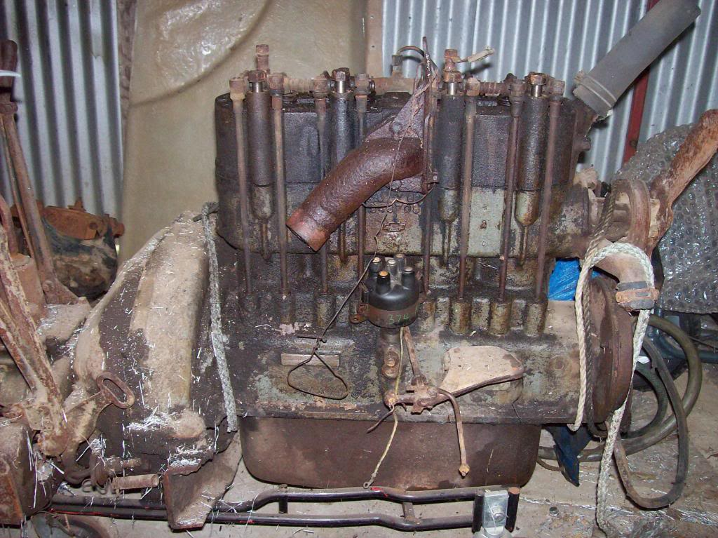my 1928 chevrolet  1927 chev engine pull down  oh that rust