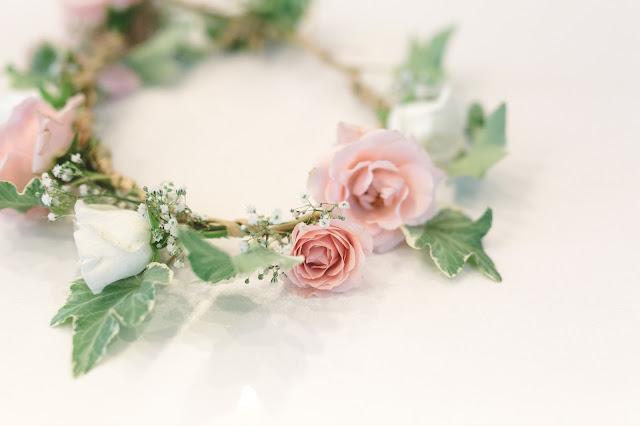 fleurish floral shop, diy flower crown, how to make flower crown, bridal shower