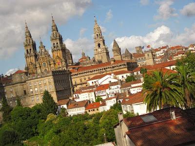 Cathedral of Santiago de Compostela from La Alameda