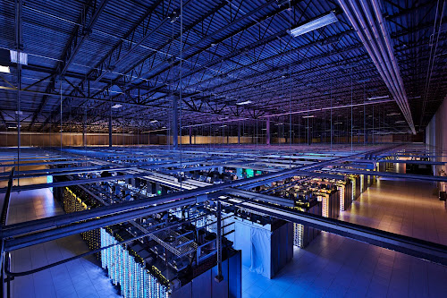 The server floor in Council Bluffs, Iowa