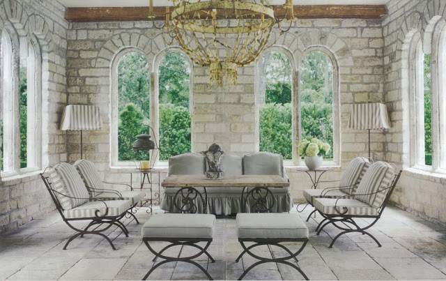 Outdoor Design 2 - Design by Pamela Pierce, image via Chateau Domingue, as seen on linenandlavender