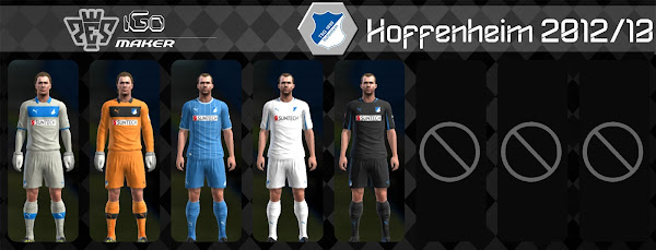 PES 2013 Hoffenheim 2012/13 Kits by iGo