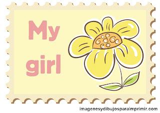 flor para niña Es una niña para imprimir