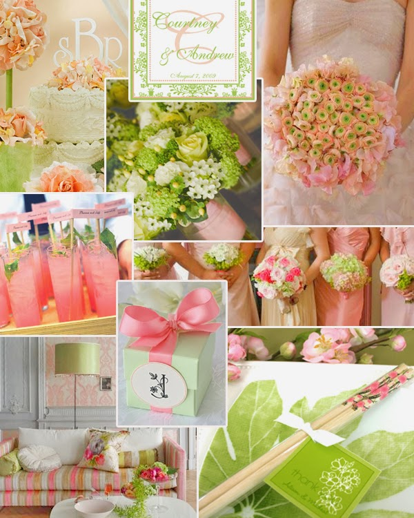 Memorable Wedding: Pink and Green Wedding Theme Ideas