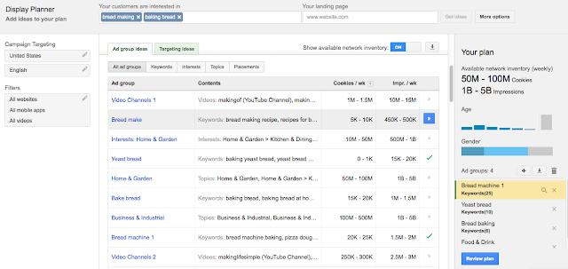 Ajouter des idées pour votre campagne display - google ad planner 2013