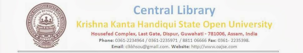 Krishna Kanta Handiqui State Open University (KKHSOU): News and Announcements