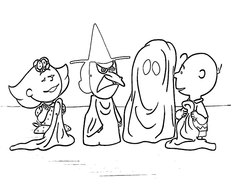 Charlie Brown Halloween Coloring Pages title=
