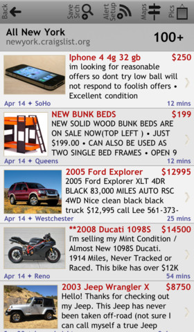 c•Mobile Craigslist Client for iPhone and iPod