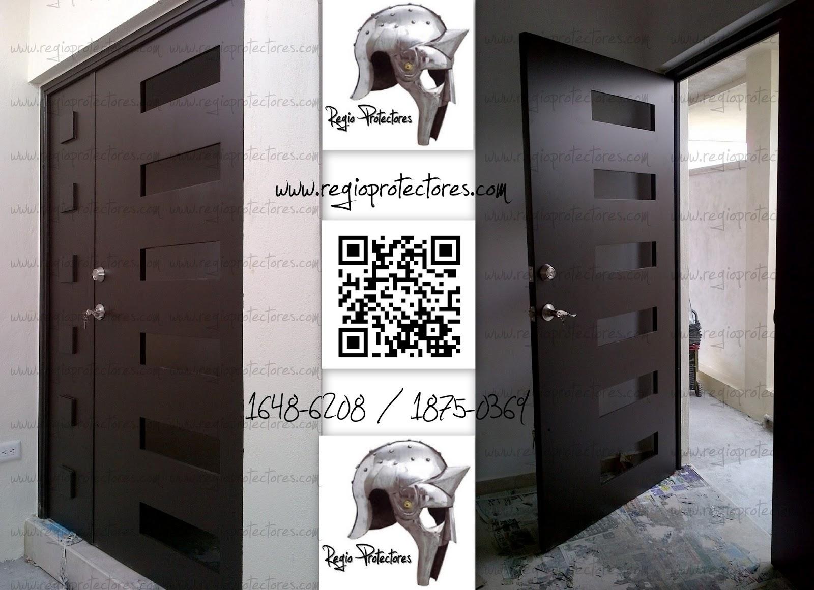 Regio protectores puerta principal contemporanea modelo for Puertas de herreria para entrada principal