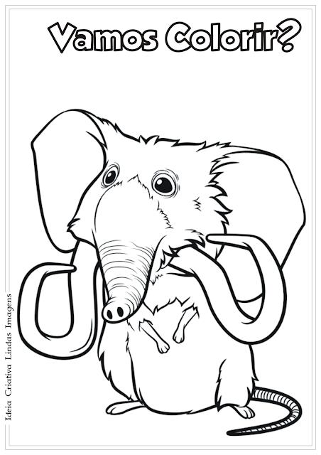 Os Croods desenho para colorir