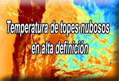 Imagen Tº de topes nubosos