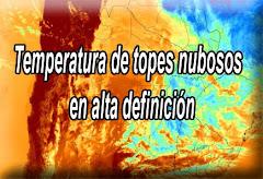 Imagen Tº de topes nubosos